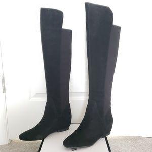 NIB Nine West Black Tiberia Over the Knee Boots